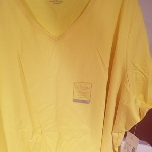 Vibrant yellow short sleeve 3x 26/28w top